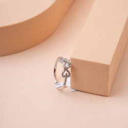 خاتم السولتير الانيق