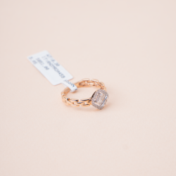خاتم الماس روزقولد
