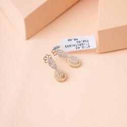 حلق ذهبي تصميم الماس