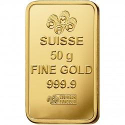 سبيكة ذهبية  بوزن 50 غرام ذهب